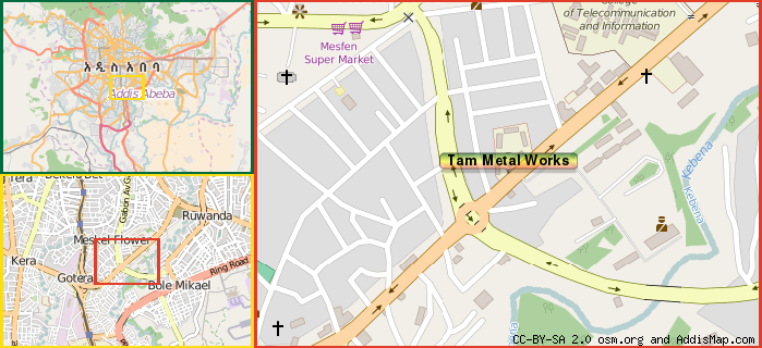 Tam Metal Works Furniture Addis Ababa Ethiopia - Us metalworks map