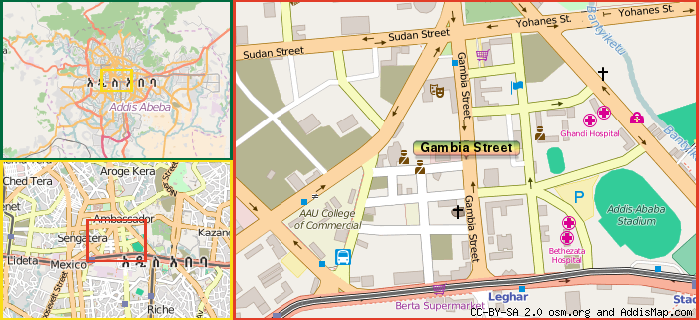 Gambia street main street addis ababa ethiopia map how to find us sciox Choice Image